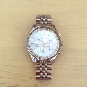 Michael Korda rose gold watch